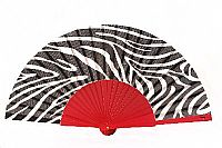 Fashionable designer hand fan - ''Zebra Chic''